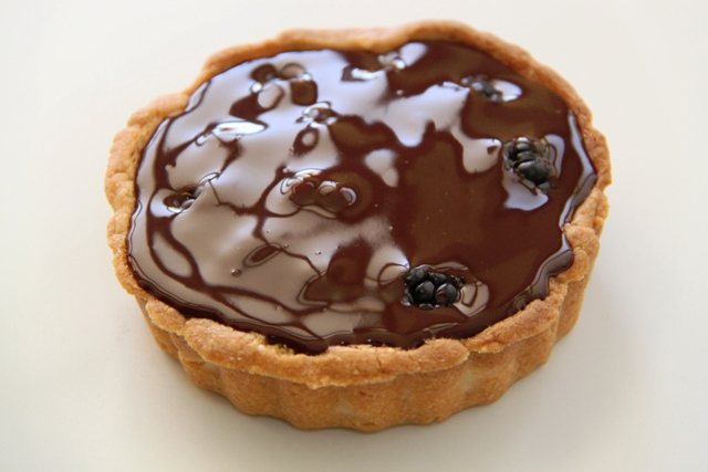 טארט פטל ושוקולד