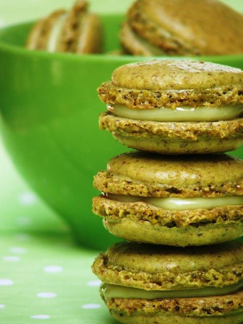 עוגיות מקרון בטעם פיסטוק