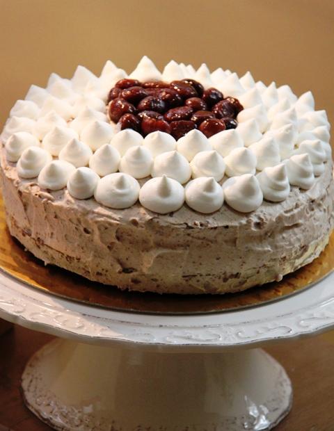 עוגת קרם ערמונים