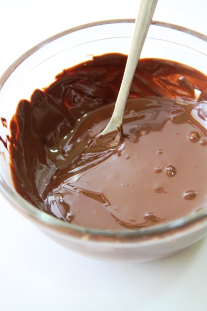 שוקולד מריר מומס