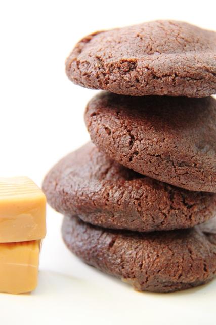 עוגיות שוקולד במלית טופי קרמל וקפה5