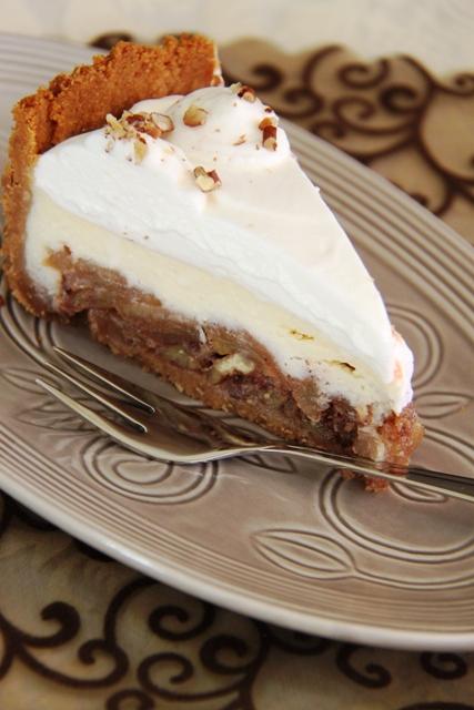 עוגת גבינה, תפוחים ופקאן10