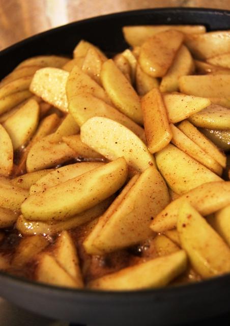 עוגת גבינה, תפוחים ופקאן2