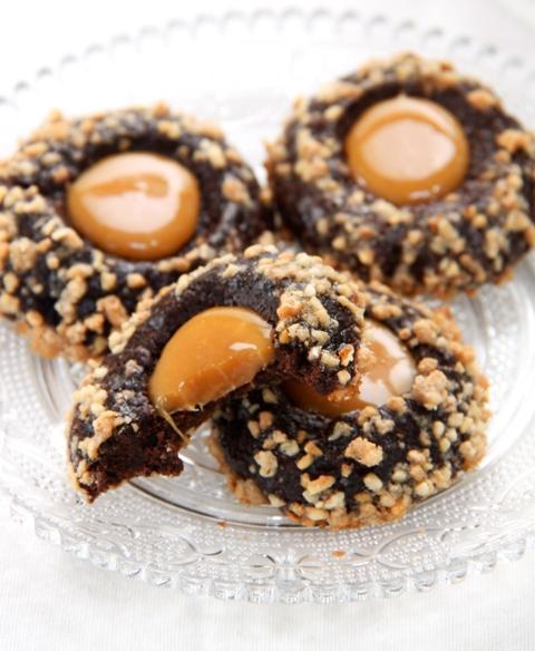 עוגיות טביעת אצבע שוקולד וקרמל6