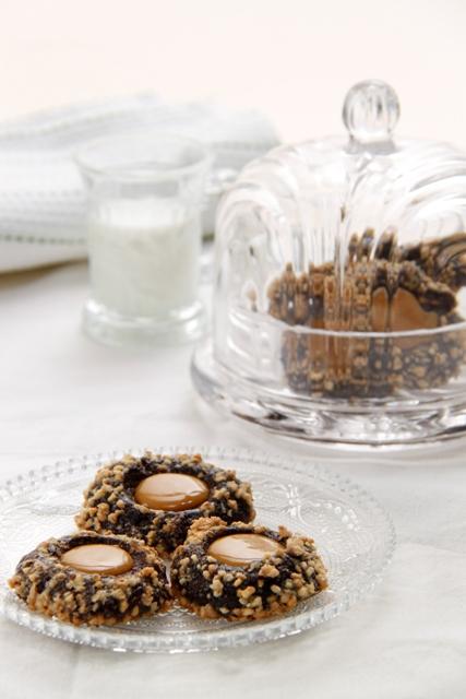 עוגיות טביעת אצבע שוקולד וקרמל9
