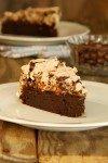 עוגת שוקולד ומרנג אגוזי לוז