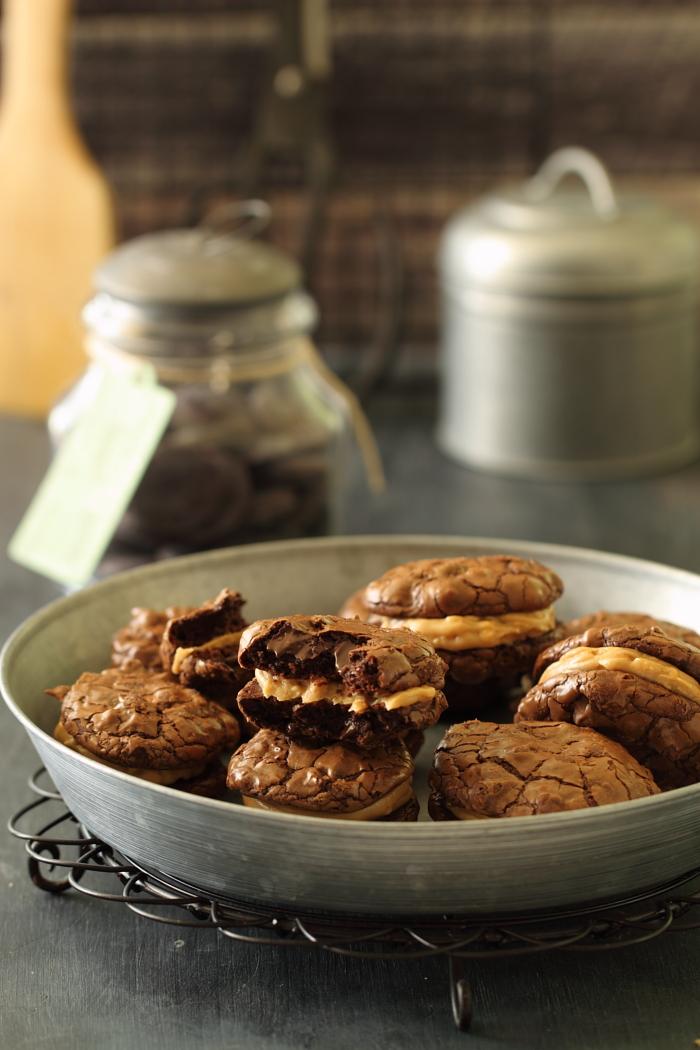 עוגיות פאדג' במלית חמאת בוטנים1