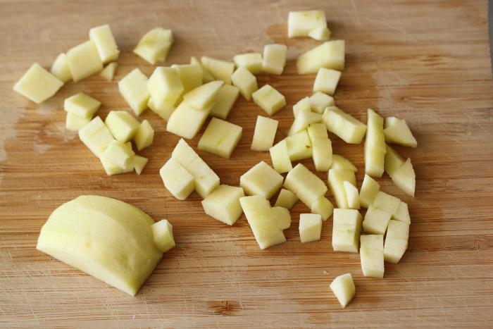 קינוח קרמבל תפוחים, קרמל וקצפת