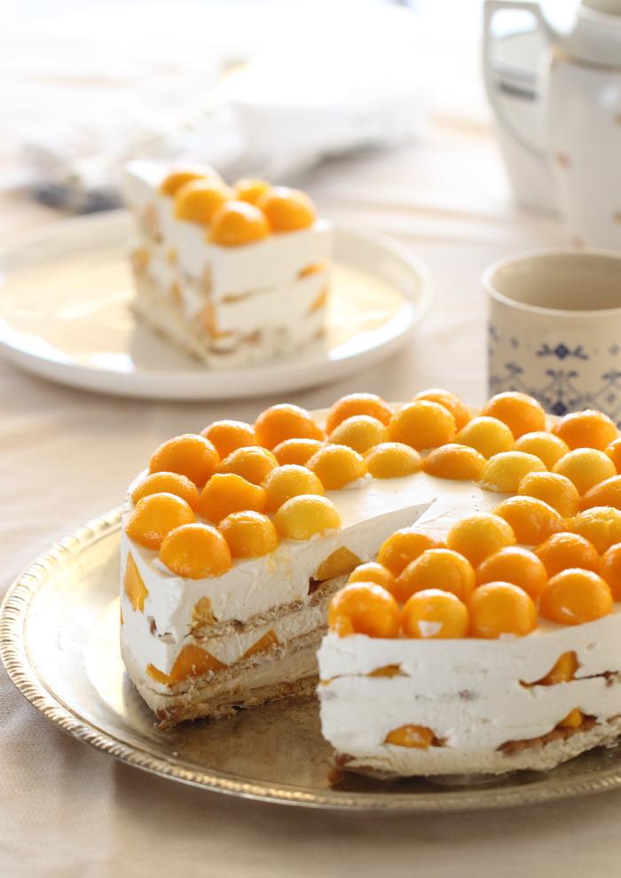 עוגת ביסקוויטים מנגו