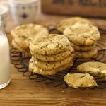 pistachio white chocolate flourless cookies