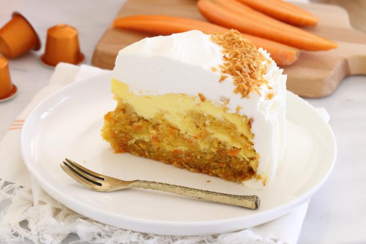 עוגת גבינה גזר – אתגר הצבע של נספרסו