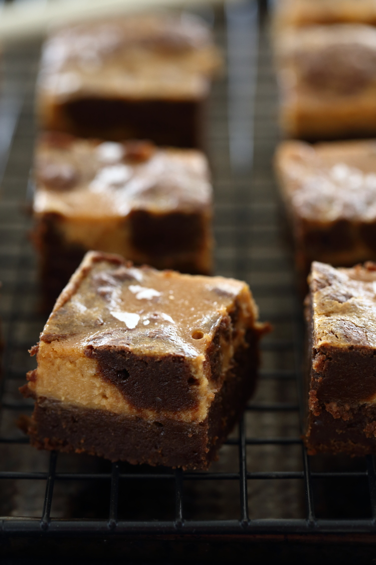 salted caramel cheesecake brownie