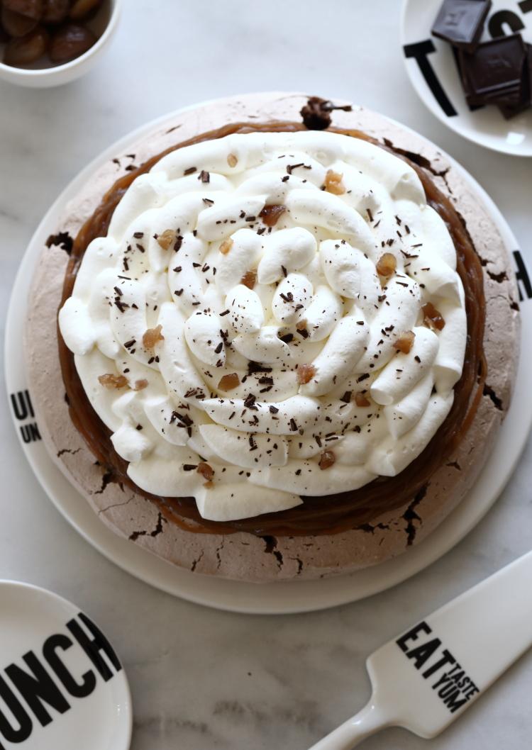 mont blanc chocolate pavlova