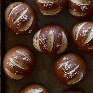 whole wheat pretzel rolls