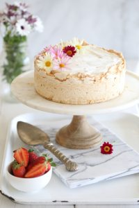 strawberry meringue ice cream cake