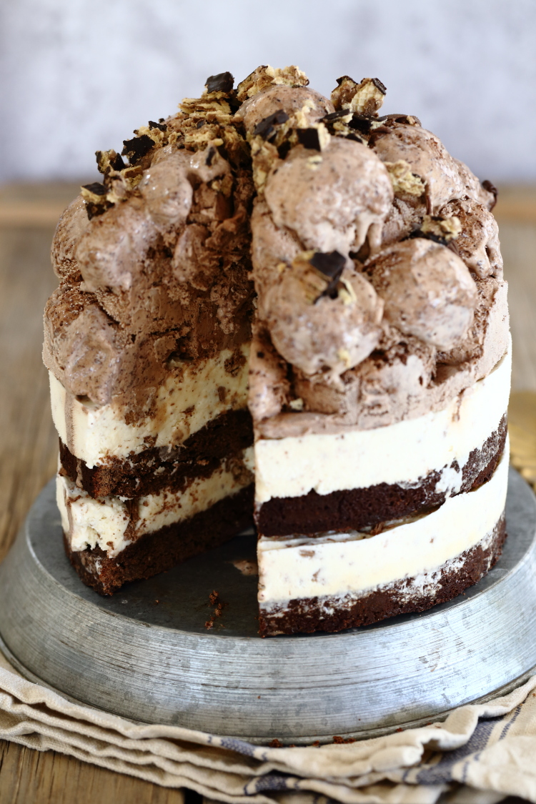 ice cream brownie cake