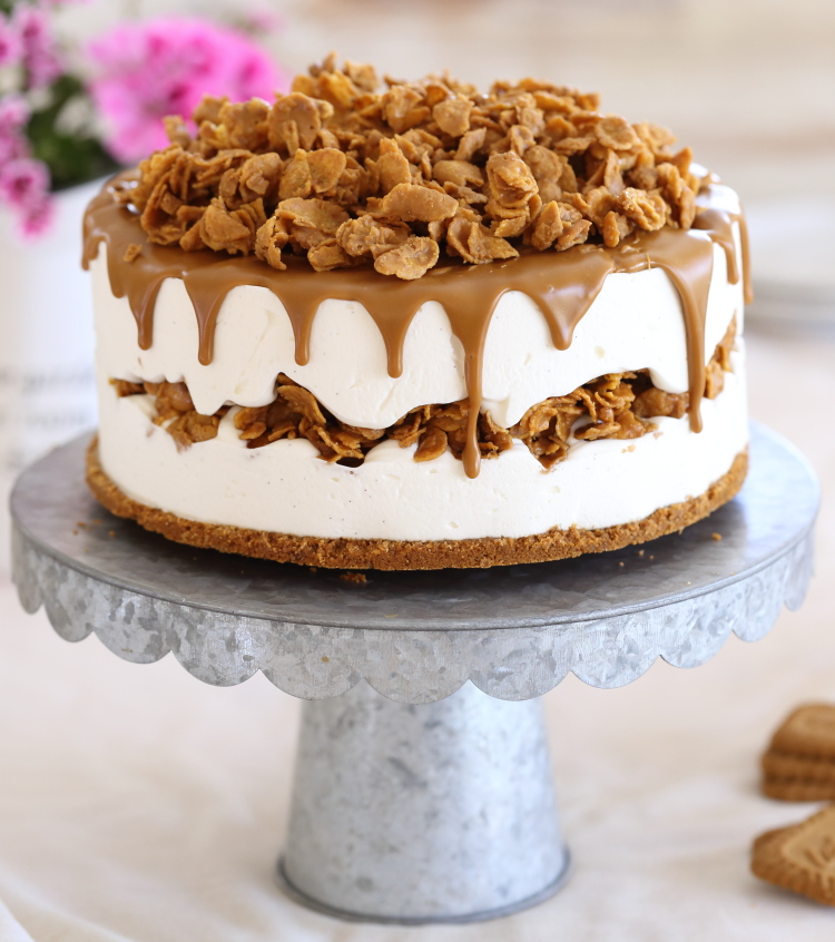 עוגת מסקרפונה ולוטוס קפואה