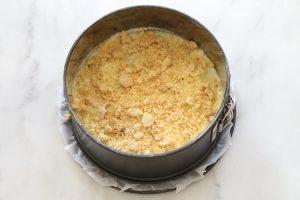 עוגת שכבות גבינה ותפוחים