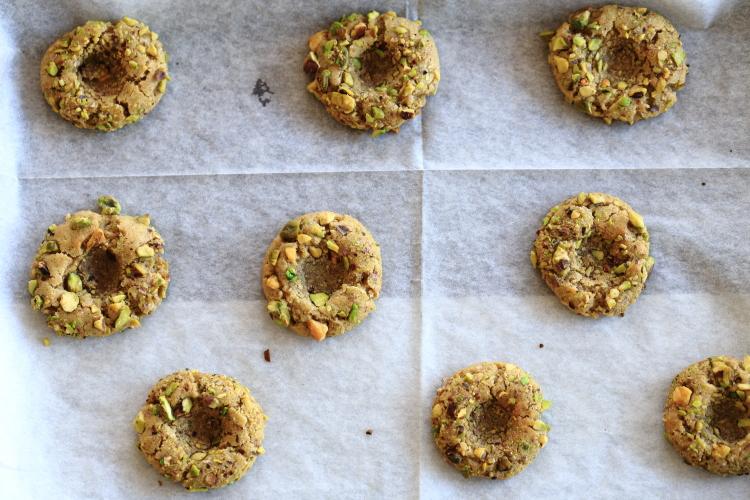 עוגיות טביעת אצבע פיסטוק