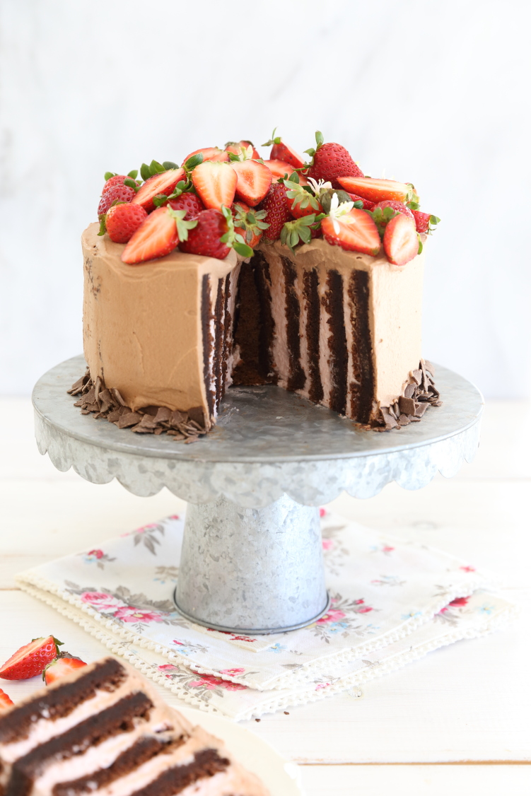 רולדת זברה תותים ושוקולד