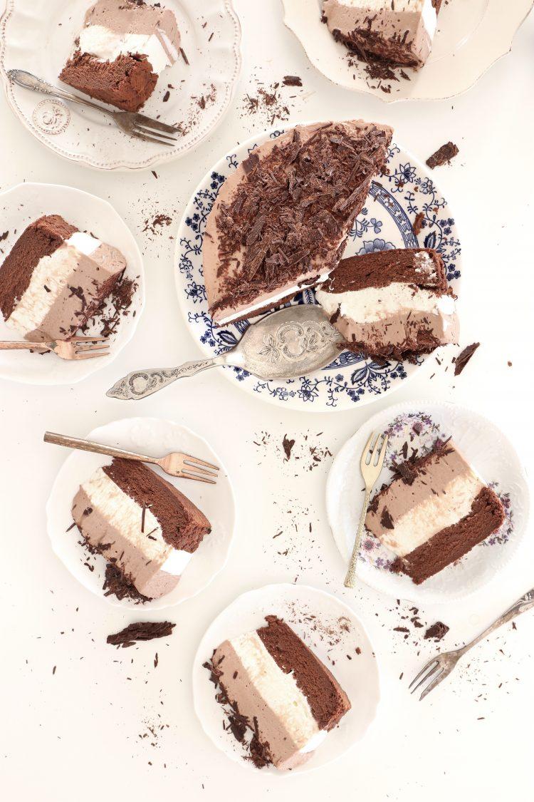 עוגת שכבות נוטלה ומסקרפונה ללא גלוטן