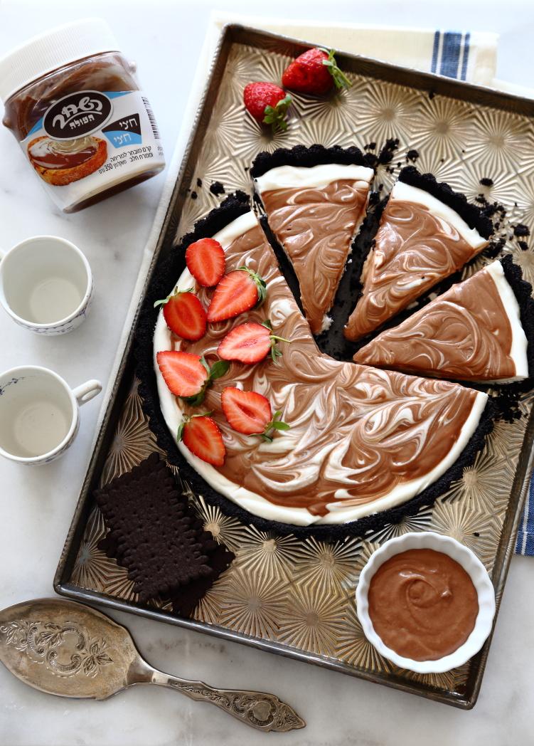 טארט גבינה וממרח שוקולד