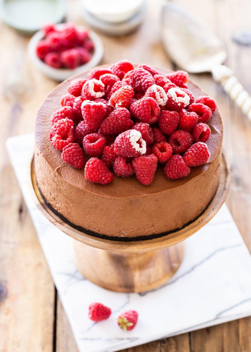 עוגת מוס שוקולד ופטל (בעשר דקות!)