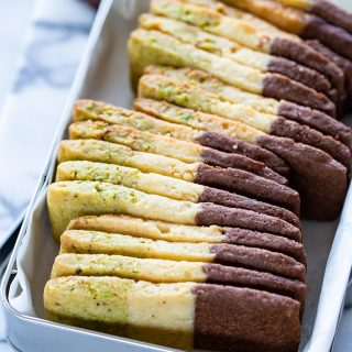 עוגיות חמאה בשלושה צבעים