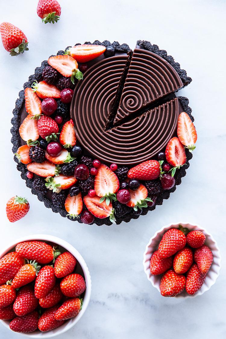 טארט שוקולד ופירות יער