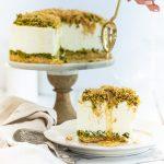 עוגת גבינה בקלוואה קדאיף