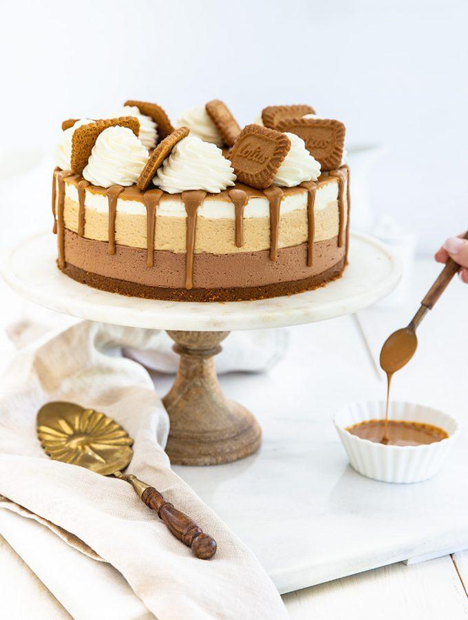 עוגת גבינה עם שוקולד ולוטוס מהממת