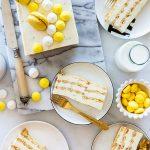 עוגת ביסקוויטים לימון ללא הקצפה