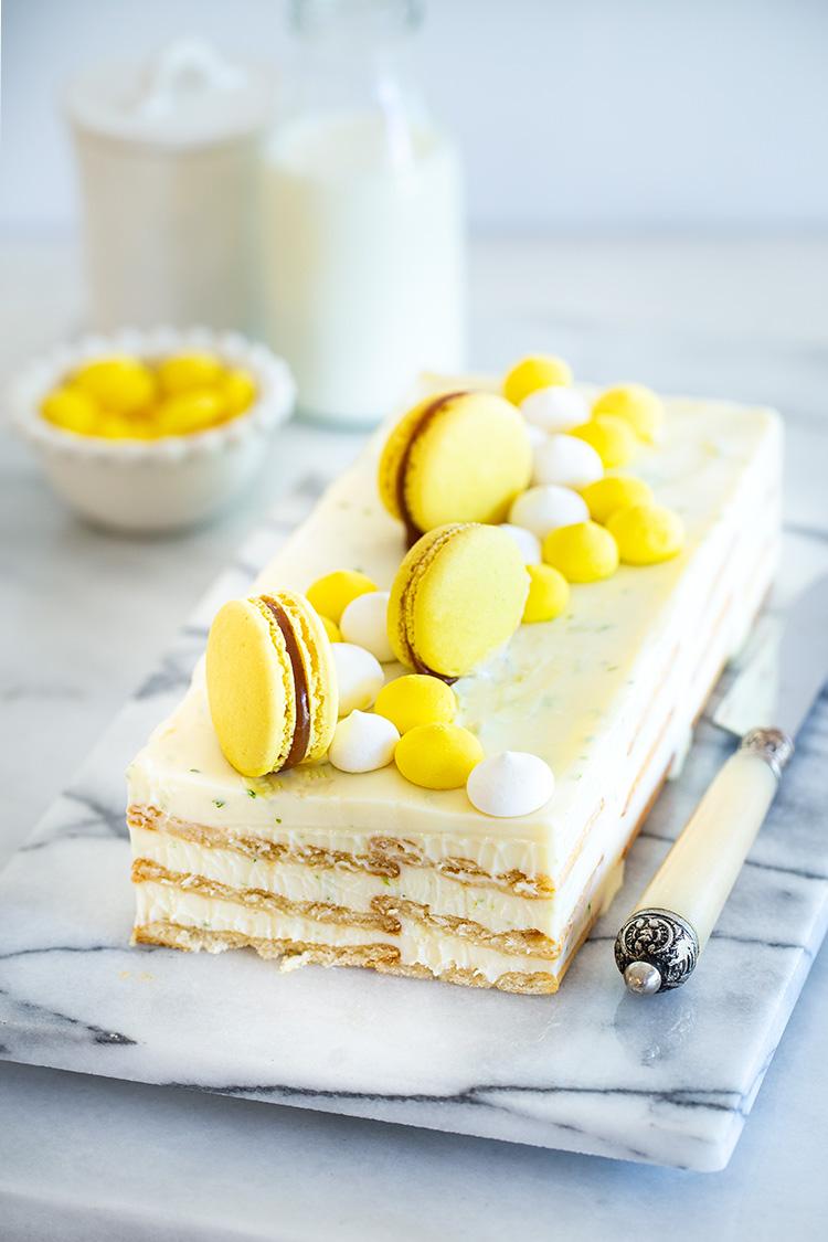עוגת ביסקוויטים ולימון ללא הקצפה ובחמש דקות הכנה