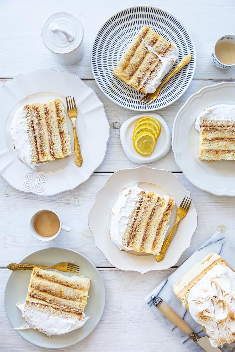 עוגת שכבות לימון קרמל ומרנג של Tartine סן פרנסיסקו